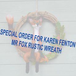 Special Order Fox Rustic Wreath Karen Fenton