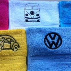 Embroidered VW design face flannel personalised with a name, £4.45 5
