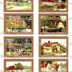 Village, Journal Ephemera, Labels, Tags, Junk Journal, Card Making, Journal Cards, ATC, Card Toppers.