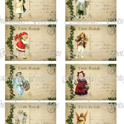 Christmas Vintage Postcards, Journal Ephemera, Labels, Tags, Junk Journal, Card Making, Journal Cards, ATC, Card Toppers.