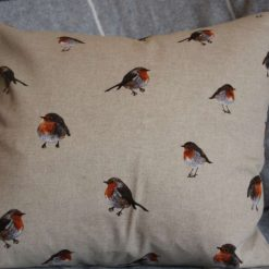"Festive Robin Double Sided Print. Duck Feather Cushion. 20"" x 20"" Square Cushion Cover 3"