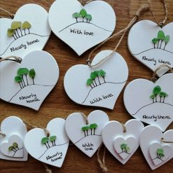 Cornish Tree Heart (white or handpainted) 1