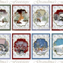Winter Wildlife, Journal Ephemera, Labels, Tags, Junk Journal, Card Making, Journal Cards, ATC, Card Toppers.