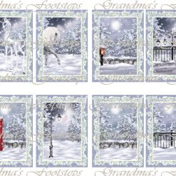 Winterscape, Journal Ephemera, Labels, Tags, Junk Journal, Card Making, Journal Cards, ATC, Card Toppers.