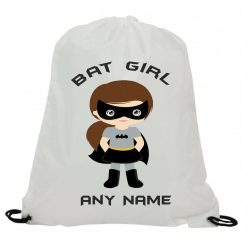 Personalised Batgirl Sublimation Gym Swimming PE Drawstring Bag Christmas Birthday Present Gift