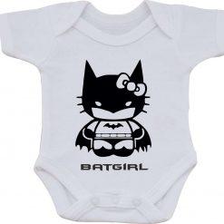 Bat Girl Birthday Christmas cotton one-piece Babygro White Baby Vest or bib