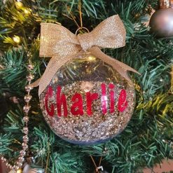 Personalised Christmas Baubles 8cms