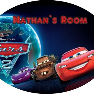 Personalised Cars Large 190MM x 140MM oval door Plaques with Fixings