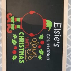 Personalised Christmas Count Down Chalk Board 2