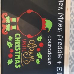 Personalised Christmas Count Down Chalk Board 1