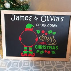 Personalised Christmas Count Down Chalk Board
