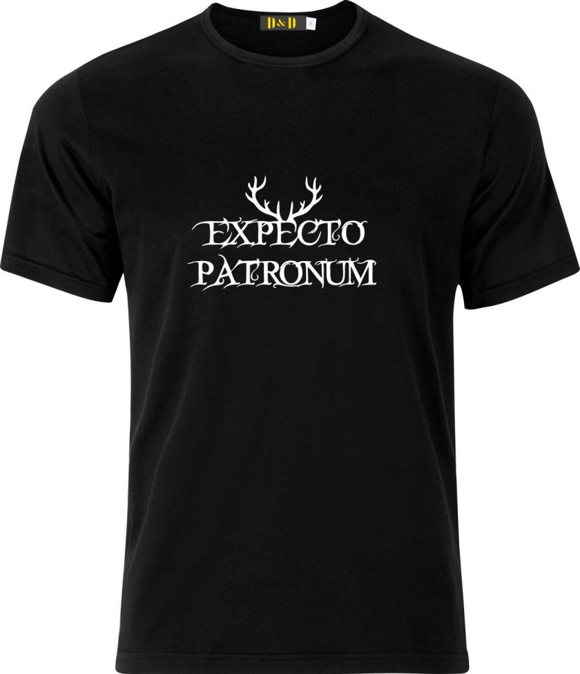 Expecto Patronum Spell Harry Potter Inspired Funny Humour Christmas Birthday Present Gift 100% cotton t shirt 1