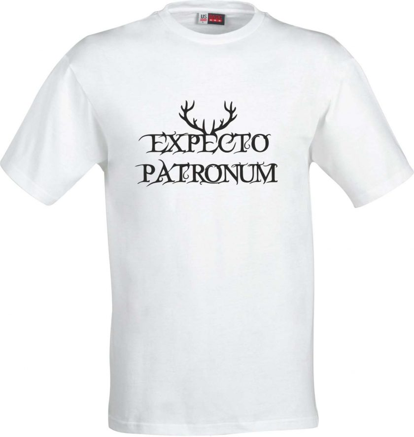 Expecto Patronum Spell Harry Potter Inspired Funny Humour Christmas Birthday Present Gift 100% cotton t shirt 2