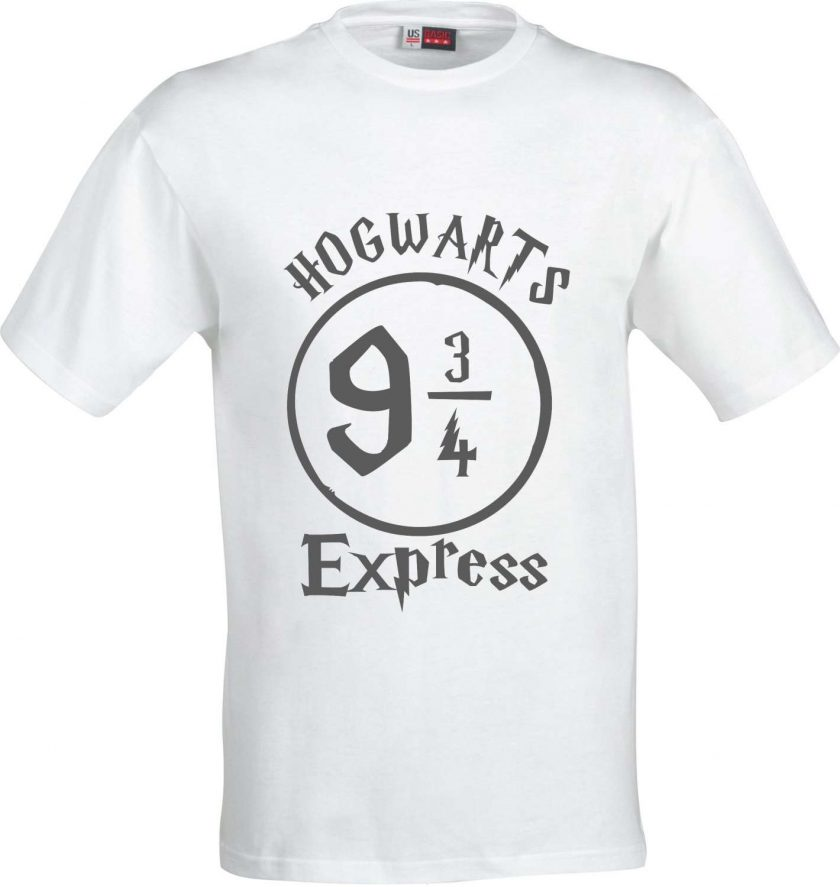 Hogwarts 9 and 3/4 Express Harry Potter Inspired Funny Humour Christmas Birthday Present Gift 100% cotton t shirt 2