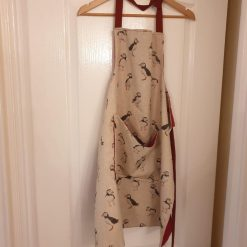 Rustic Style Apron Available in Various Prints with Pocket and Adjustable Neck Strap 1