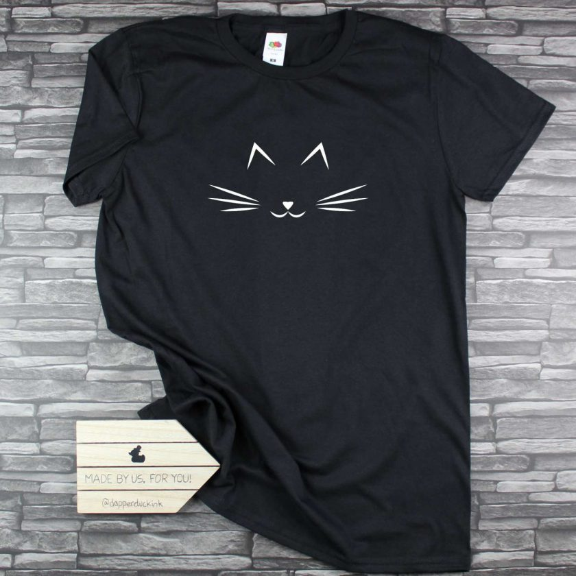 Cat Whiskers Cat Lovers T Shirt 1
