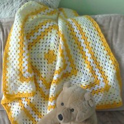 Learn to Crochet a Giant Granny Square Baby Blanket
