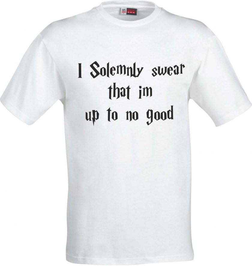 I Solemnly Swear that im up to no good Harry Potter Inspired Funny Humour Christmas Birthday Present Gift 100% cotton t shirt 3