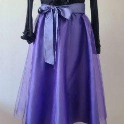 Middle Purple Tulle Skirt/Party Skirt/Bridesmaide Skirt/Wedding Skirt/Prom Skirt