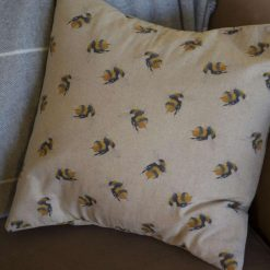 "Rustic Big Bumble Bee Double Sided Print. Duck Feather Cushion 20"" x 20"""
