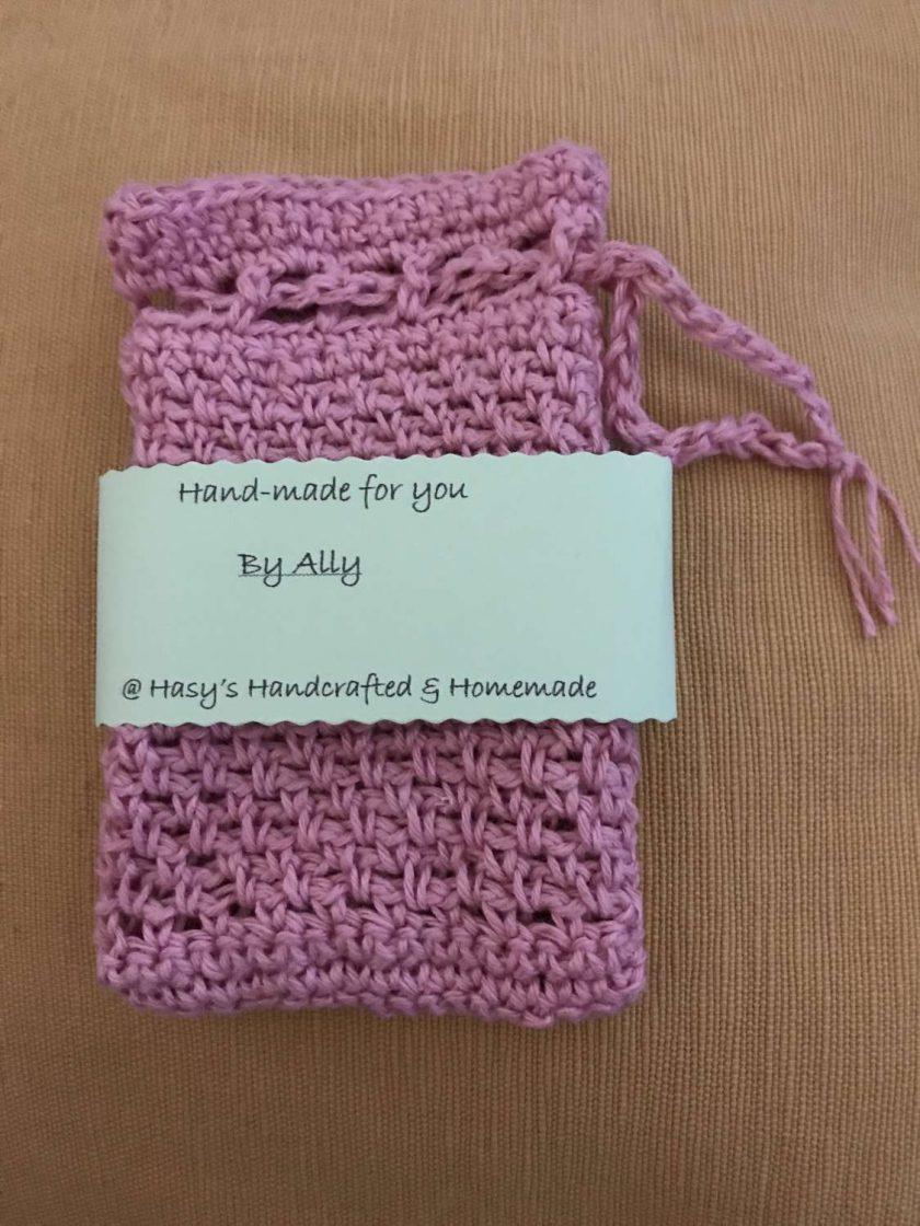 Crochet Soap Bag - Pale Pink 1