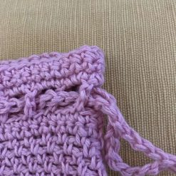 Crochet Soap Bag - Pale Pink 6
