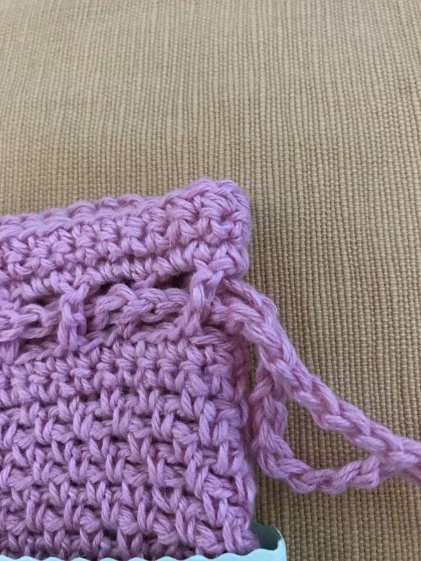 Crochet Soap Bag - Pale Pink 3