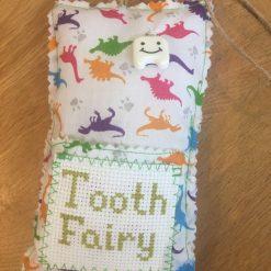 Dinosaur Tooth Fairy Pouch