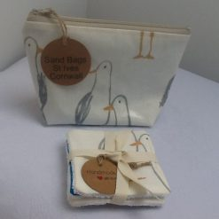 Oilcloth Seagull Print Cosmetic/Toiletries Bag from Sand Bags, St Ives by Naomi