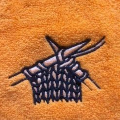 Personalised egyptian face flannel/cloth, knitting design, £4.45