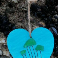 Cornish Tree heart (handpainted)