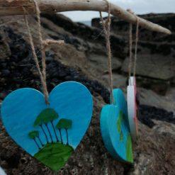 Cornish Tree heart (handpainted) 1