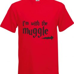 Im with the Muggle Harry Potter Inspired Funny Humour Christmas Birthday Present Gift 100% cotton t shirt 5
