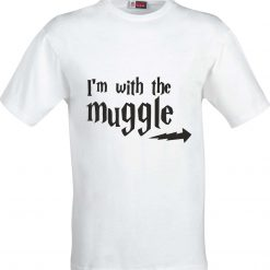 Im with the Muggle Harry Potter Inspired Funny Humour Christmas Birthday Present Gift 100% cotton t shirt 4