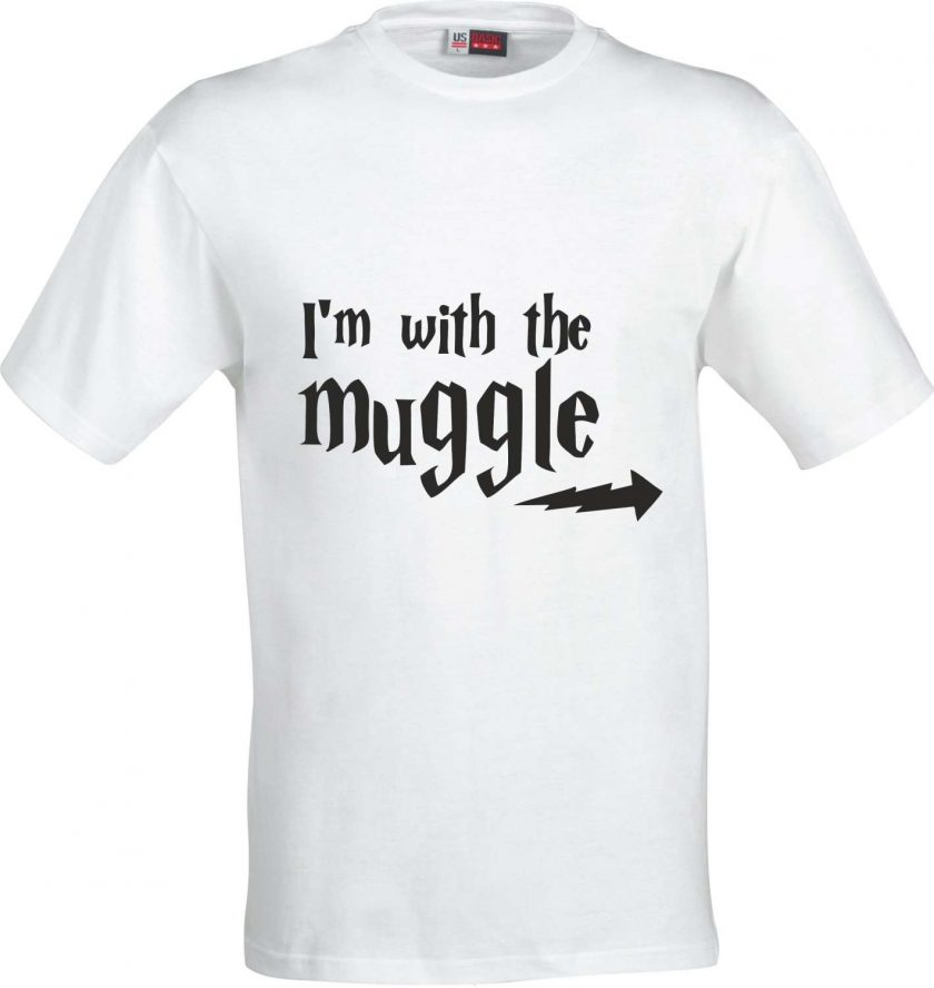 Im with the Muggle Harry Potter Inspired Funny Humour Christmas Birthday Present Gift 100% cotton t shirt 2