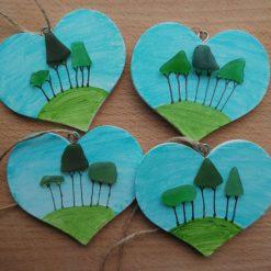 Cornish Tree heart (handpainted) 2