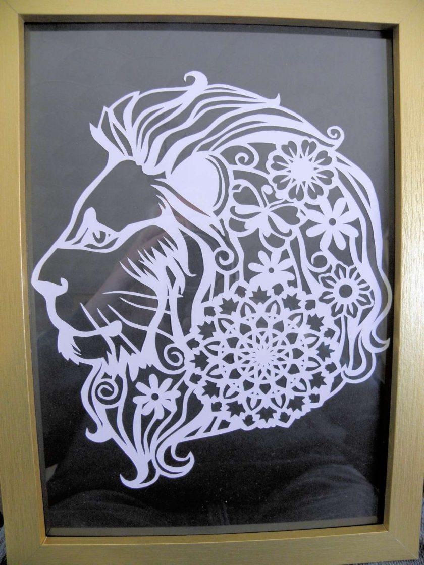 A4 Paper Cutting Lion. 1