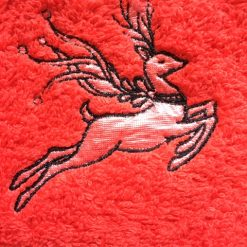 Embroidered Christmas REINDEER design face flannel/cloth, price £4.45