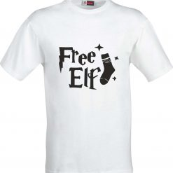 Free Elf Harry Potter Inspired Funny Humour Christmas Birthday Present Gift 100% cotton t shirt 3