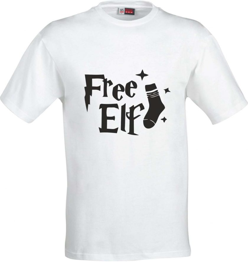 Free Elf Harry Potter Inspired Funny Humour Christmas Birthday Present Gift 100% cotton t shirt 2