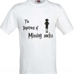 The Department of Missing Socks Harry Potter Inspired Funny Humour Christmas Birthday Present Gift 100% cotton t shirt 4