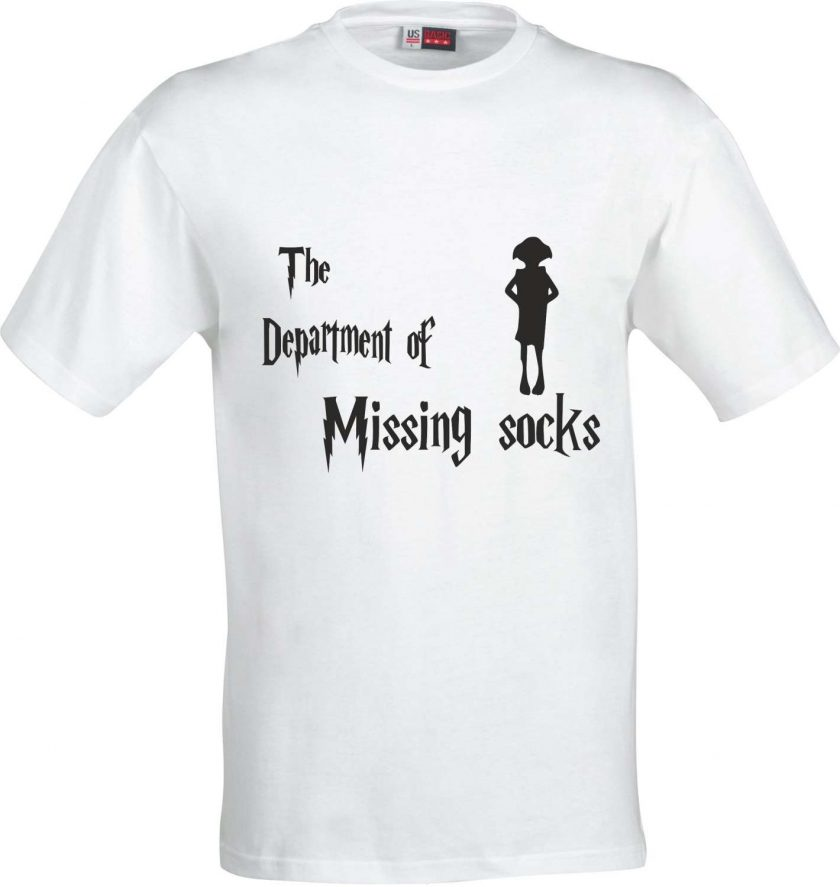 The Department of Missing Socks Harry Potter Inspired Funny Humour Christmas Birthday Present Gift 100% cotton t shirt 2