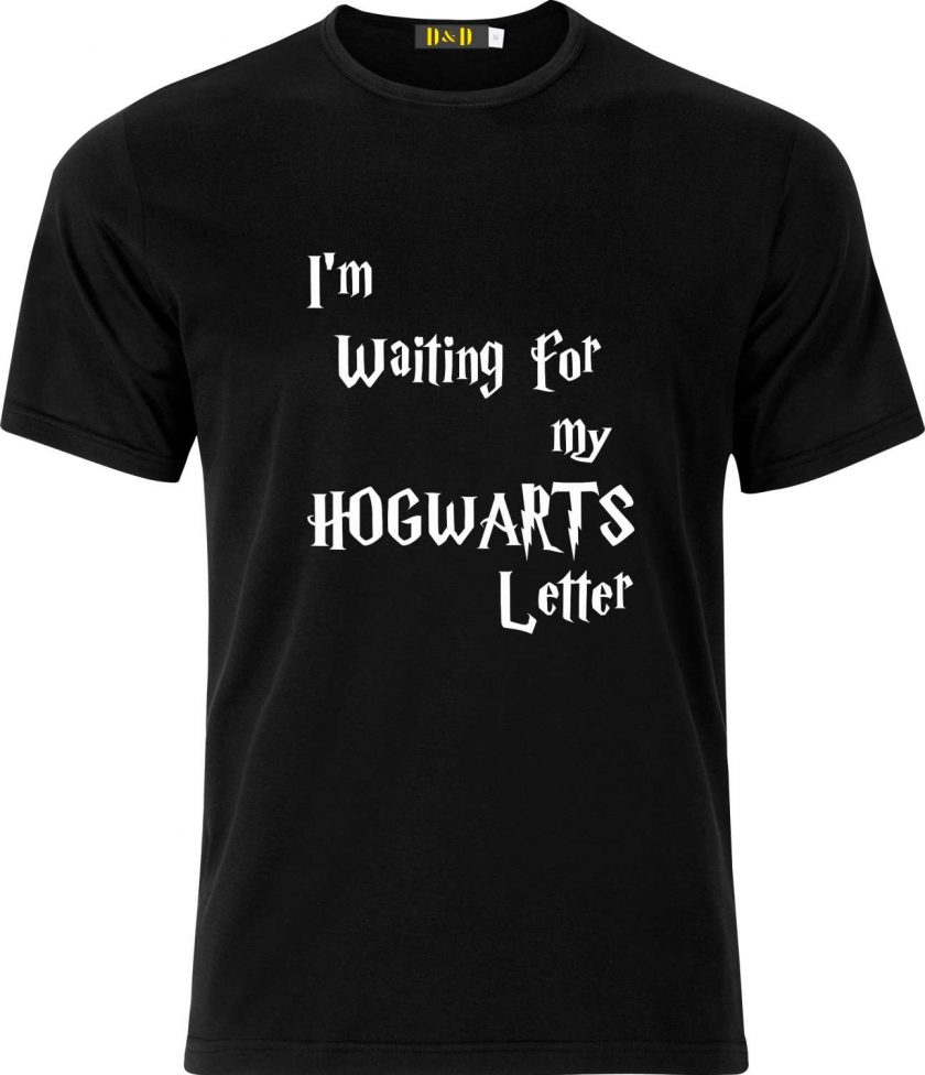Im Waiting for my Hogwarts Letter Harry Potter Inspired Funny Humour Christmas Birthday Present Gift 100% cotton t shirt 1