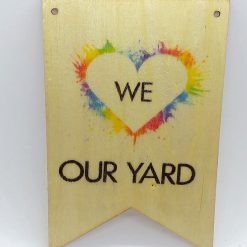 Hand-Etched Wooden Garden Signs, Plaques