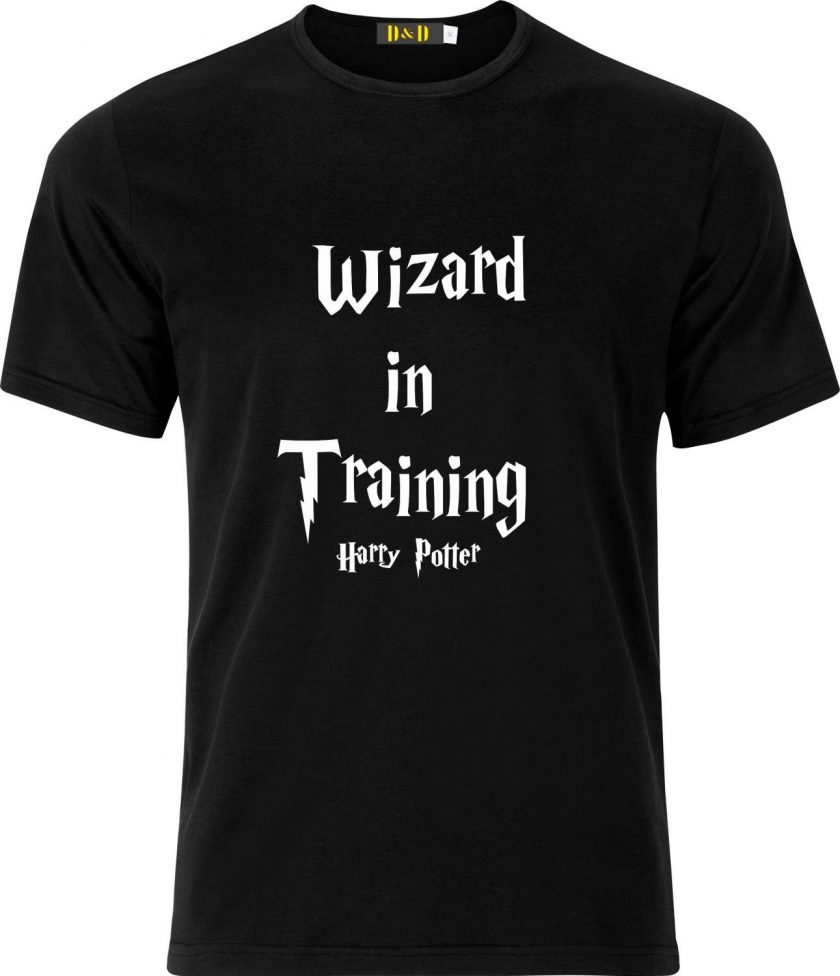 Wizard in Training Harry Potter Inspired Funny Humour Christmas Birthday Present Gift 100% cotton t shirt 1