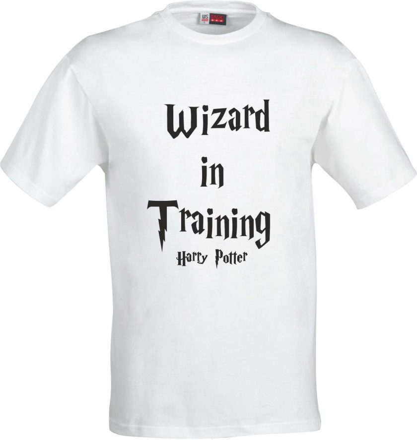 Wizard in Training Harry Potter Inspired Funny Humour Christmas Birthday Present Gift 100% cotton t shirt 2