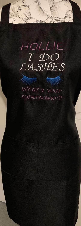 Personalised Embroidered Lash Technician Apron 2