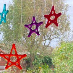 Fused Glass Garden Stars 1