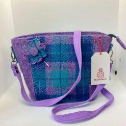 Harris Tweed Bag with Pin Brooch
