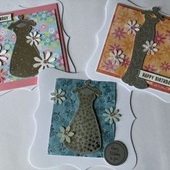 Hand made birthday cards set of 3 - SOLD